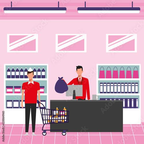 Poster People on supermarket