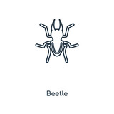 Beetle concept line icon. Linear Beetle concept outline symbol design. This simple element illustration can be used for web and mobile UI/UX.