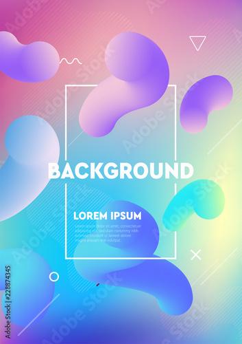 Liquid color covers. Futuristic design posters. Fluid gradient shapes background design composition. Good for placards, banner, flyer, etc. - 228874345