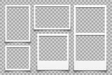 Empty white photo frame - vector - 228916107