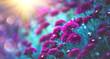 Leinwanddruck Bild - Chrysanthemum flowers blooming in a garden. Beauty autumn flowers. Bright vivid colors