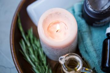 Spa candle still life © marrakeshh