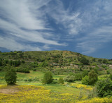 A typical landscape of a mountain valley in Sicily, Italy - 228942930