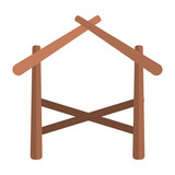 wooden stable manger icon - 228944710