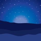 desert night manger scene background - 228944759