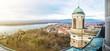 Leinwanddruck Bild - View from dome of the basilica, Esztergom, Hungary