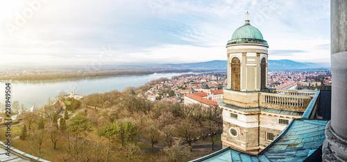 Leinwanddruck Bild View from dome of the basilica, Esztergom, Hungary