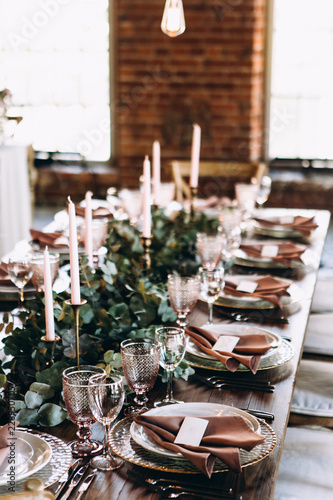 Wedding Table Decoration Rustic Style Buy Photos Ap Images