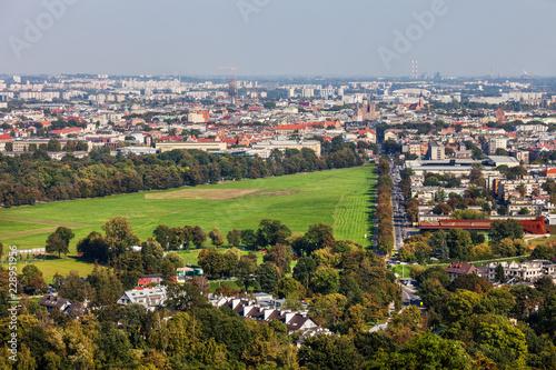 Krakow Cityscape With Blonia Park