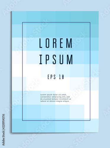 Vector template cover with geometric pattern. Template of modern vector cover. Creative cover design. Can be used for flyer, brochure, report, cover, poster, postcard. Vector template Eps10 file © 300_librarians