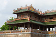 Fragment of the terrace of the Midday gate of the imperial Forbidden City. Hue, Vietnam