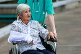 broken arm  female patient with nurse - 228967561