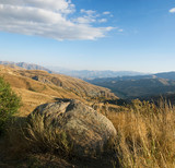 Autumn landscape in Armenia, view from Selim pass
