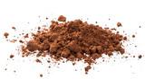 Pile cocoa powder isolated on white background - 228972592