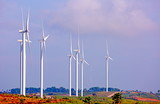 Clean wind turbines to generate electricity. - 228977900