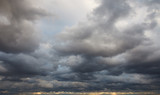 Natural background: dark stormy sky - 228982537