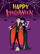 Happy Halloween Vampire Couple Bloody Cocktail Party Scene
