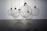 Transparent Christmas ball  on white background - 228984974