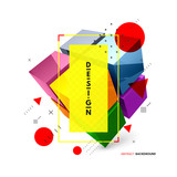 Cube. Design element for business or construction concept. 3d vector illustration.