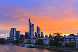 Frankfurt at sunset, Germany - 228986775