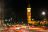 Night traffic near Big Ben in London - 228989588