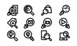Search Icon Template Vector Sign DesignSearch Icon Template Set Vector Sign Design