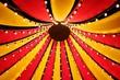 canvas print picture - Blick nach oben in das Dach eines kleinen Zirkuszeltes