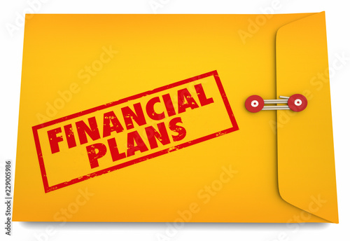 financial plans budget saving money envelope 3d illustration buy