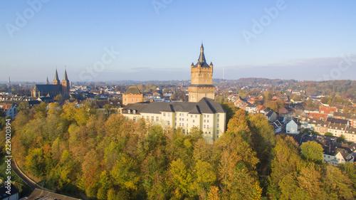 Leinwanddruck Bild The Schwanenburg castle in Cleves, Germany