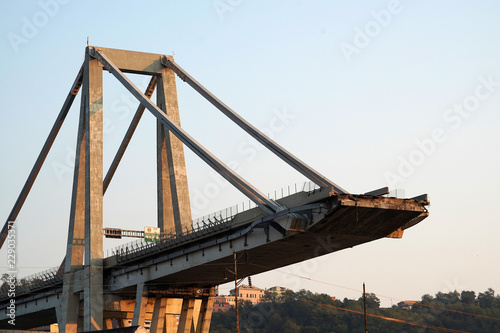 morandi collapsed bridge in genoa - 229035371