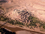 Aerial view on Ait Ben Haddou in Morocco - 229037741