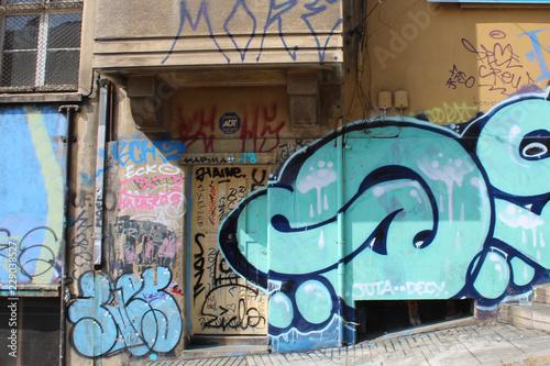 Graffiti Cerro Yungay - 229038527