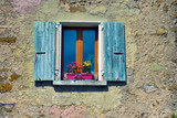 Old style window and shutters