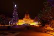 Christmas lights in Edmonton, Alberta, Canada.