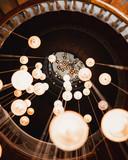 Lightbulbs in a staircase