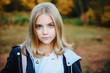 beautiful schoolgirl outdoor