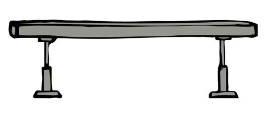 Balance beam. Vector drawing