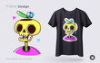Funny skeleton illustration. Print on T-shirts, sweatshirts and souvenirs