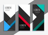 business style geometric banner design - 229102188