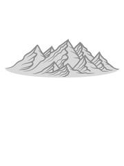 berge hügel alpen wandern urlaug ferien radtour hoch oben klettern aufsteigen besteigen erklimmen berg clipart design kalt schnee snowboard ski fahren © Style-o-Mat