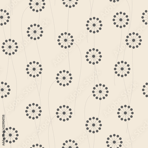 Abstract flowers pattern collection. - 229104758