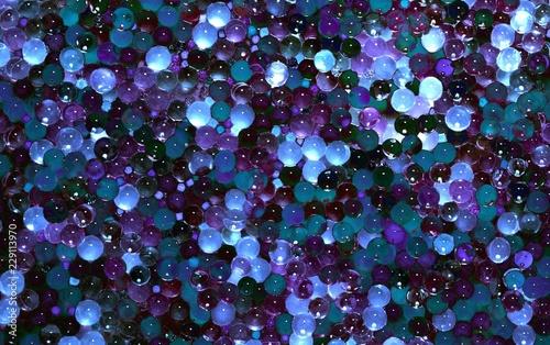 фон из разноцветных прозрачных шаров - 229113970