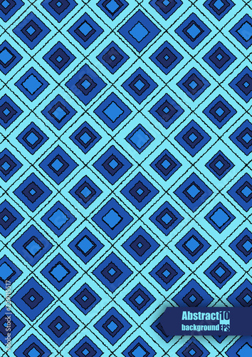 Abstract modern background with hand-drown rhombuses. Eps10 Vector illustration - 229115517