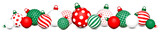 Banner Christmas Balls Pattern Red-Green/White/Red-Green - 229126535