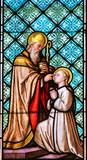 Stained Glass - Roman Catholic Saints Erhard and Odile - 229132156