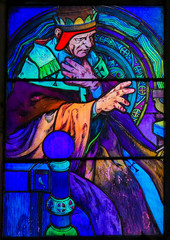 Stained Glass of Saint Cyril by Alphonse Mucha