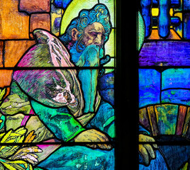 Stained Glass of Saint Methodius by Alphonse Mucha