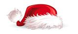 Weihnachtsmuetze Boden liegend Bommel rot