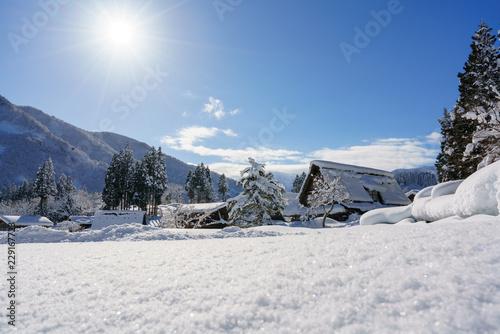 冬の五箇山 相倉集落