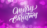 Christmas background, Xmas lights and Merry Christmas holiday lettering in light glitter sparkles - 229169782